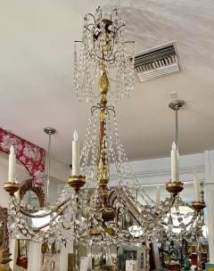 Antique Italian Giltwood Chandelier Therien Collection - 2057292