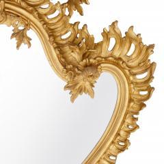 Antique Italian giltwood mirror in the Rococo style - 1443620