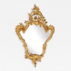 Antique Italian giltwood mirror in the Rococo style - 1448594