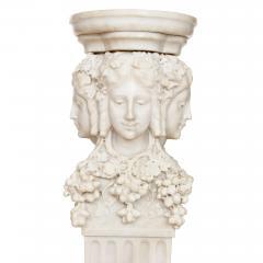 Antique Italian marble pedestal depicting Dionysus - 1569720