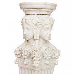 Antique Italian marble pedestal depicting Dionysus - 1569722