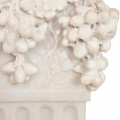 Antique Italian marble pedestal depicting Dionysus - 1569723