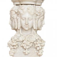 Antique Italian marble pedestal depicting Dionysus - 1569724