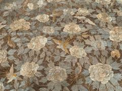 Antique Japanese Embroidery Tapestry - 1201304