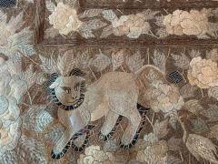 Antique Japanese Embroidery Tapestry - 1201306