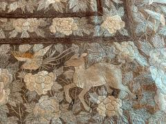 Antique Japanese Embroidery Tapestry - 1201307