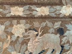 Antique Japanese Embroidery Tapestry - 1201308