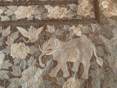 Antique Japanese Embroidery Tapestry - 1201310
