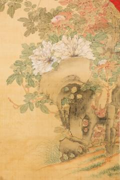 Antique Japanese Scroll of Peonies - 1368662