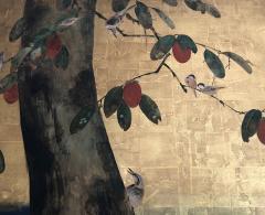 Antique Japanese Two panel Screen byobu  - 1626115