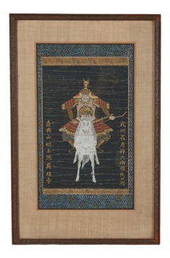 Antique Japanese Yabusame Painting of a Mounted Archer - 2142259