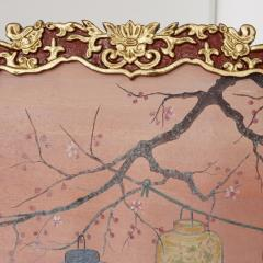 Antique Japonisme wooden folding screen with five panels - 1683163