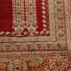 Antique Kayseri Crimson Beige Geometric Floral Rug - 1158047