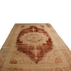 Antique Kerman Copper Brown Beige Silk Persian Rug - 1158139