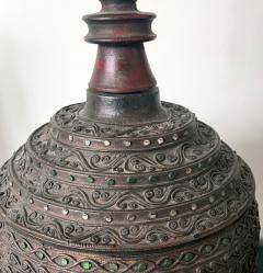 Antique Lacquered Wood Offering Vessel Thailand - 1905178