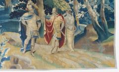 Antique Late 17th C Flemish Verdure Landscape Tapestry - 1885240