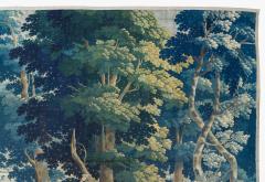 Antique Late 17th C Flemish Verdure Landscape Tapestry - 1885241