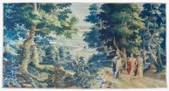 Antique Late 17th C Flemish Verdure Landscape Tapestry - 1885244