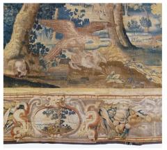 Antique Late 17th Century Antique Franco Flemish Verdure Landscape Tapestry - 1892834