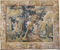 Antique Late 17th Century Antique Franco Flemish Verdure Landscape Tapestry - 1893228