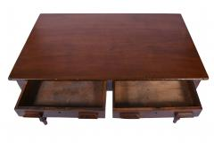 Antique Library Table 19th Century Walnut Germany or Austria - 1876170