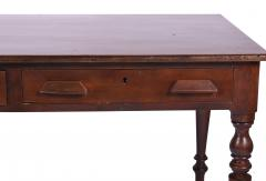 Antique Library Table 19th Century Walnut Germany or Austria - 1876172