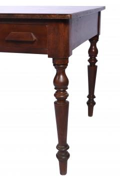 Antique Library Table 19th Century Walnut Germany or Austria - 1876175