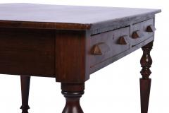 Antique Library Table 19th Century Walnut Germany or Austria - 1876178