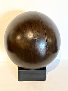 Antique Lignum Vitae Bowling Ball - 1772954