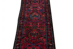 Antique Lilihan Handmade Allover Floral Motif Red Wool Runner - 2139729
