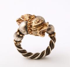 Antique Lion Headed Gold and Silver - 1174375