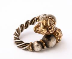 Antique Lion Headed Gold and Silver - 1174377