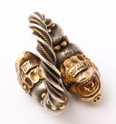 Antique Lion Headed Gold and Silver - 1174378