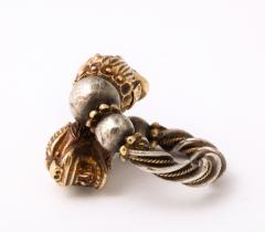 Antique Lion Headed Gold and Silver - 1174379