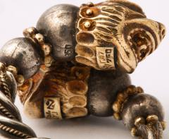 Antique Lion Headed Gold and Silver - 1174380