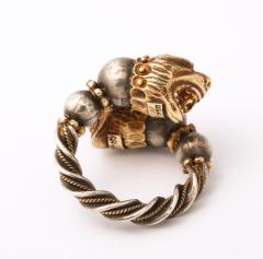Antique Lion Headed Gold and Silver - 1174381