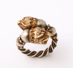 Antique Lion Headed Gold and Silver - 1174382