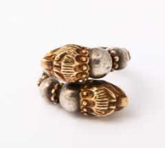 Antique Lion Headed Gold and Silver - 1174383