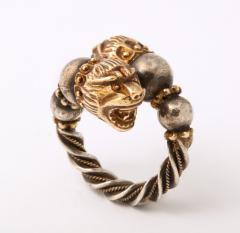 Antique Lion Headed Gold and Silver - 1174384