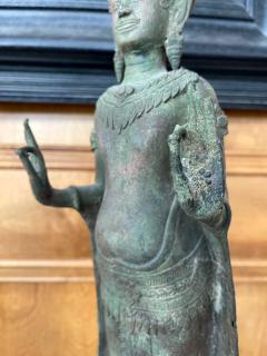 Antique Lopburi Buddha Statue from Thailand - 1885522
