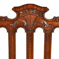 Antique Louis XIV Oak Dining Table and Six Chairs - 163457