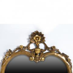 Antique Louis XV Oval Mirror Carved and Gilded France 19th Century - 150450