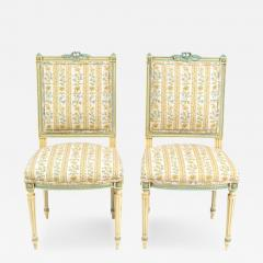 Antique Louis XVI Pair of Side Chairs 19th C France - 173782