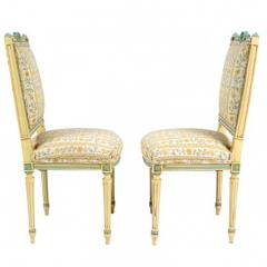 Antique Louis XVI Pair of Side Chairs 19th C France - 173784