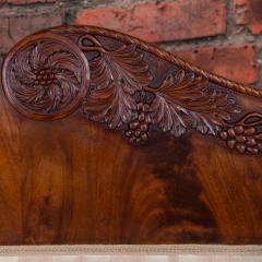 Antique Mahogany Biedermeier Sofa with Dramatic Carved Cornucopia Arms - 919490