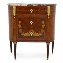 Antique Marble Topped Hardwood Dresser with Neoclassical Marquetry - 2022739