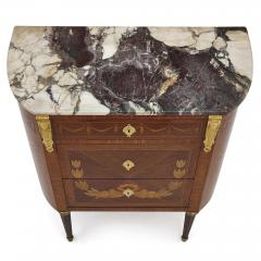 Antique Marble Topped Hardwood Dresser with Neoclassical Marquetry - 2022740