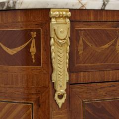 Antique Marble Topped Hardwood Dresser with Neoclassical Marquetry - 2022741