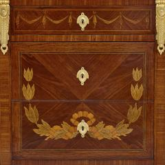 Antique Marble Topped Hardwood Dresser with Neoclassical Marquetry - 2022749