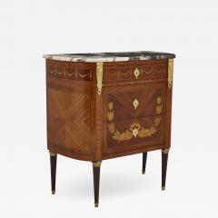 Antique Marble Topped Hardwood Dresser with Neoclassical Marquetry - 2023925